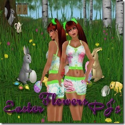 Easter Flowers PJ's 25L