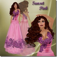 SUNSET PINK FREE GOWN