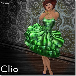 (Clio)- Marion Green DressPIC