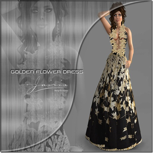 Jairis Golden Flower dress