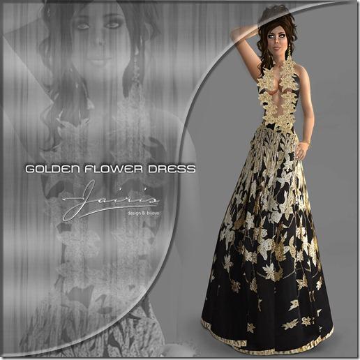Jairis Golden Flower dress