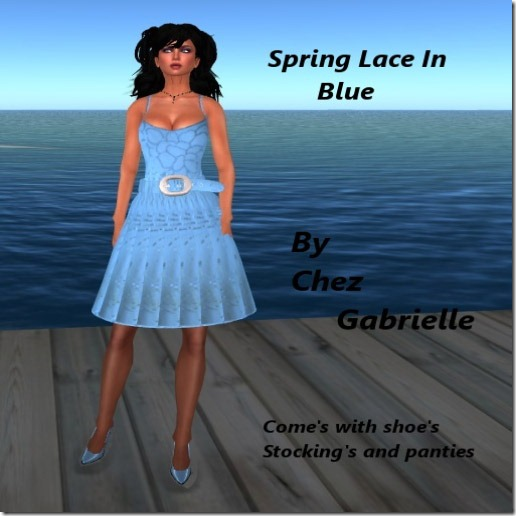 spring lace in Blue