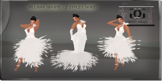 __ AD __-PLUMA WHITE clasp- aD