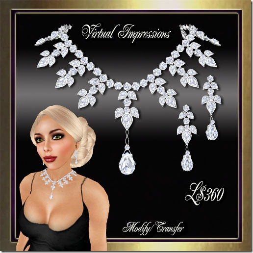 Katrina Jewelry  Set in Platinum & Diamonds