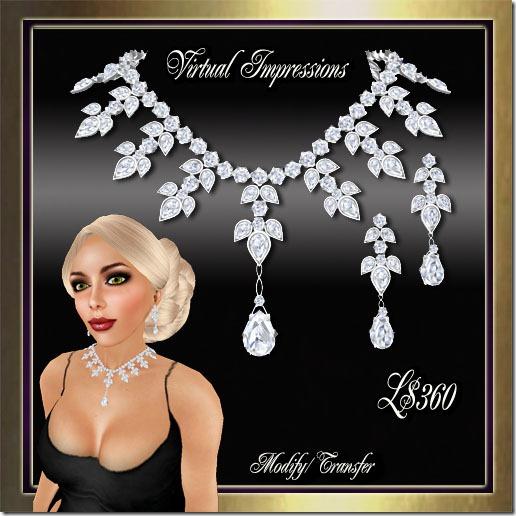 Katrina Jewelry  Set in Platinum & Diamonds