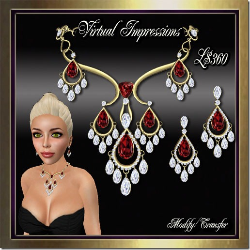 Paige Jewelry Set in Gold Ruby & Diamonds