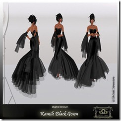 Kamile- Black By Gelese Giano