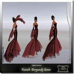 Kamile  Burgundy Gowns By Gelese Giano