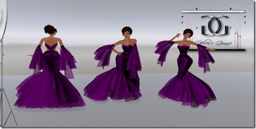 Kamile Purple  Gown By Gelese Giano