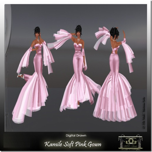 Kamile- soft pink By Gelese Giano