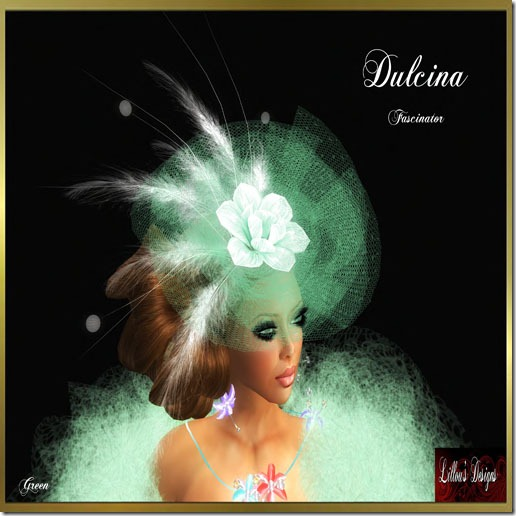 [LD] Dulcina - Green - FascinatorPIC