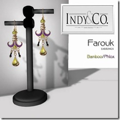 Indyra Originals _Farouk_ earrings- Bamboo_Phlox