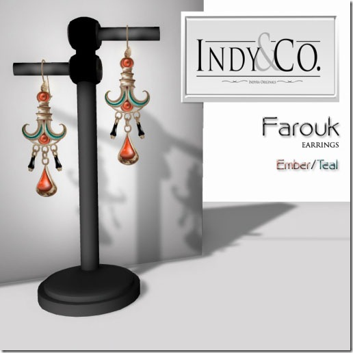 Indyra Originals _Farouk_ earrings- Ember_Teal