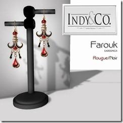 Indyra Originals _Farouk_ earrings- Rouge Noir
