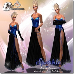 sparkle gown vendor BLUE