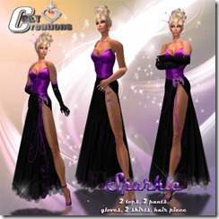 sparkle gown vendor purple