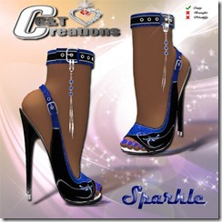 sparkle heels vendor blue