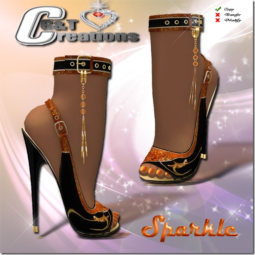 sparkle heels vendor gold