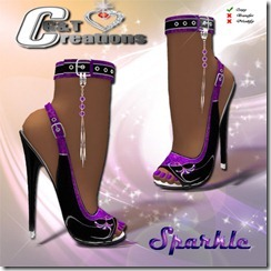 sparkle heels vendor purple
