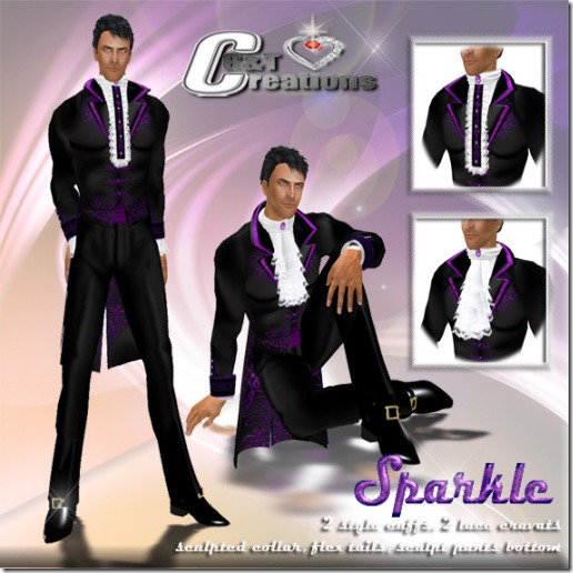tux sparkle  purple vendor