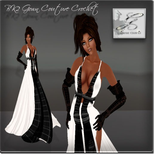 BK2 Gown Couture Crochet By Gelese Giano -ad 2CP