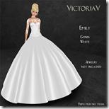 Emily Ball Gown white