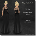 Emily Evening Gown black