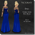 Emily Evening Gown blue-black