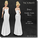 Emily Evening Gown white