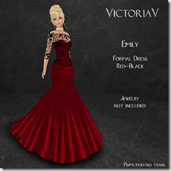 Emily formal Red-Black
