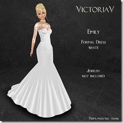 Emily formal white