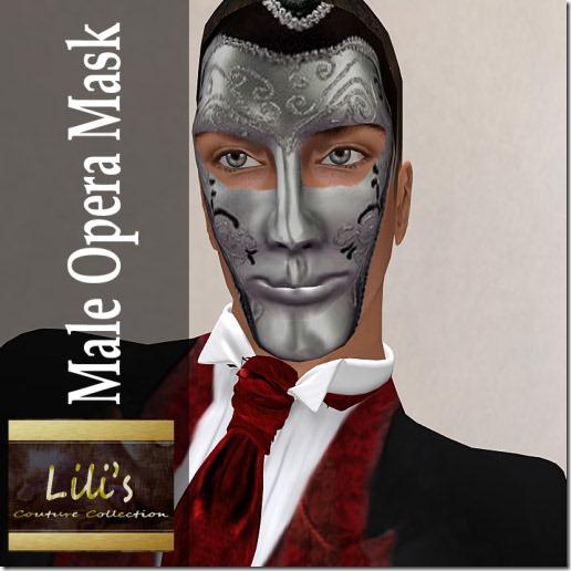 Lili's Male Opera Mask
