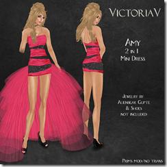 VictoriaV - Amy 2 in 1  Mini Dress