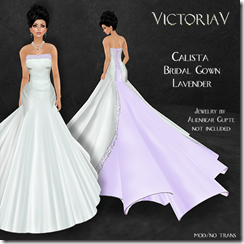 VictoriaV - Calista Bridal Gown Lavender