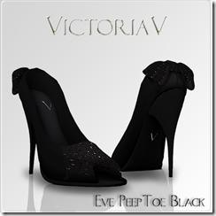 Victoriav - Eve Peep Toe Black