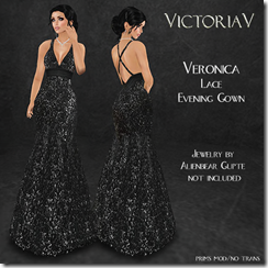 VictoriaV - Veronica Lace Evening Gown