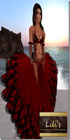 Lili's Red Goddess Gown