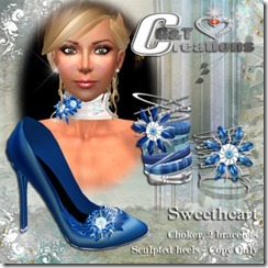 VENDOR sweetheart blue heels and jewels
