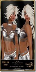 DANIELLE Mims Top Silver
