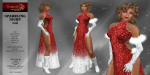 DANIELLE Sparkling Night - red