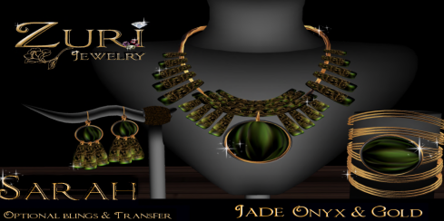 Sarah Jade Onyx Collection~ZURI JEWELRY