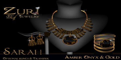 Zuri's Sarah Amber Onyx Collection