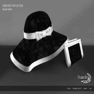 Ceri Hat and Clutch Black and White