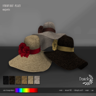 DANIELLE Straw Hat Plain Majestic