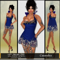 Casandra Party Dress in Blue