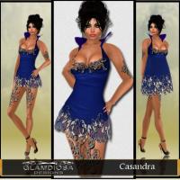 Casandra Party Dress in Blue