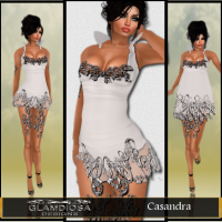 Casandra Party Dress in White