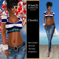 Claudia in Blue