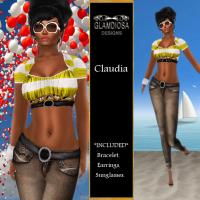 Claudia in Yellow