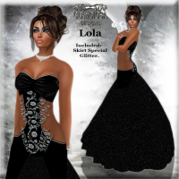 Lola's Ballroom Gown in Black